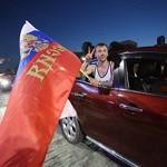 Полиция в Москве задержала девушку, которая рисовала флаги на лицах болельщиков