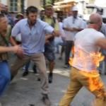 В оккупированном Симферополе активист пытался совершить акт самосожжения (видео)
