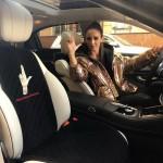 Ольга Бузова украсила свой автомобиль «жестом сатаны» (фото)