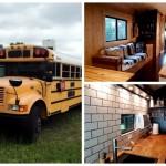 Американец превратил старый школьный автобус в роскошный дом на колесах