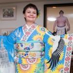 В Японии создали уникальное украинское кимоно с Крестителем Киевской Руси (фото)