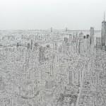 Художник-аутист взглянул на Манхэттен с вертолета и по памяти нарисовал его во всех деталях