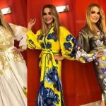 Ольга Сумская примерила три платья-вышиванки одновременно