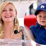 Кирстен Данст получила звезду на «Аллее славы» и впервые появилась на публике с сыном Эннисом
