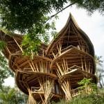 Девушка бросила работу, уехала на Бали и построила там роскошный дом из бамбука