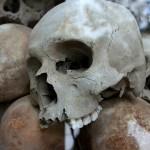 В Петербурге у офиса «Единой России» скелет дожидается пенсии (фото)