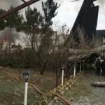 Грузовой Боинг врезался в жилые дома в Тегеране — видео