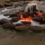 Горящая вода в Калмыкии, которую даже можно подержать в руках