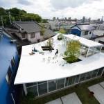Японские архитекторы создали для себя офис, в котором есть парк на крыше