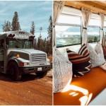 Американская пара, чтобы не платить за аренду жилья, превратила старый автобус в уютный дом